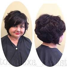 one side stack sassy bob bllack hair 30 stylish and sassy bobs for round faces curly hairstyles