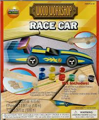 amazon com build your own wood race car paint it and play with