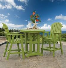 Patio High Table And Chairs Amish Made Outdoor Wood And Polywood Pub Tables From Dutchcrafters