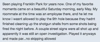 is franklin park golf course in dorchester the most lit course in