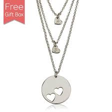 mothers necklace sterling silver heart mothers necklace set rsnamenecklace