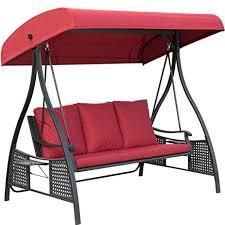 amazon com outdoor swing chair seats 3 porch patio swing glider