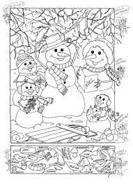 Free Printable Christmas Worksheets Hidden Pictures Publishing Snowman Hidden Picture Puzzle For