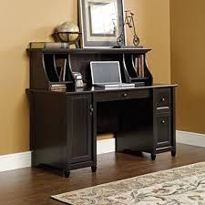 sauder 420606 palladia l desk vo a2 computer vintage oak amazon com estate black computer desk with hutch by sauder kitchen
