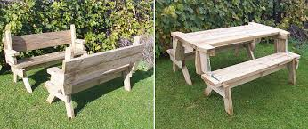 amazing picnic table bench combo plan picnic tables woodworking