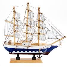 sailboat home decor handmade ship craft wooden sailing boat wood sailboat model home