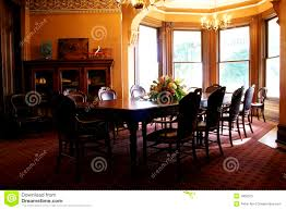 furniture engaging victorian dining room royalty stock photo
