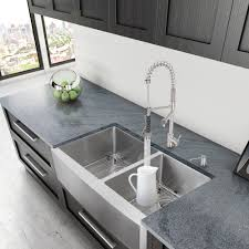 sinks double bowl 16 gauge stainless steel kitchen sink black