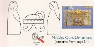 nativity quilt ornament carla at home
