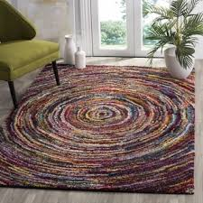 safavieh handmade nantucket modern abstract pink multi cotton rug