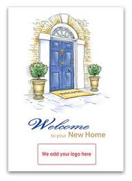 welcome to your new home greetings card for estate agents to send