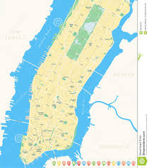 Manhattan New York Map by New York Map Lower And Mid Manhattan Stock Vector Image 58025278
