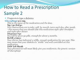 how to read a prescription ppt video online download