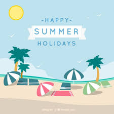 Graphic Design Holiday Cards Happy Summer Holidays Card Vector Free Download