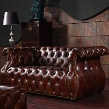 american vintage leather sofa sets with leather coffee table buy