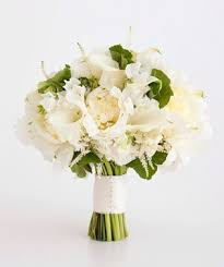 white wedding bouquets white wedding flowers real simple