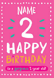 send 2nd birthday cards for kids funky pigeon