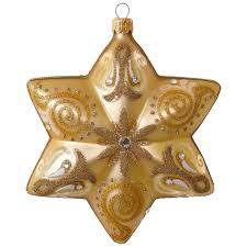 gold blown glass ornament specialty ornaments hallmark
