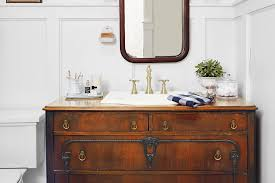 Furniture Vanity For Bathroom The Complete Guide To Using Vintage Furniture As A Bathroom Vanity