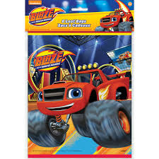 halloween treat bags for toddlers blaze and the monster machines favor bags 8 count walmart com