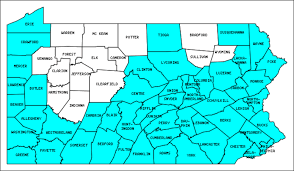 map of counties in pa pennsylvania counties visited with map highpoint capitol and facts