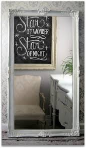 white leaning floor mirror foter