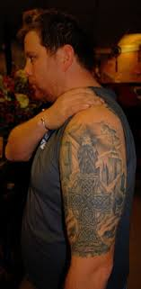 Celtic Cross Half - the parlour celtic tattoos