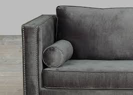 grey sofa modern grey velvet sofa with nailheads