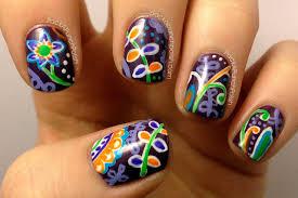 packapunchpolish vera bradley plum crazy inspired floral nail art