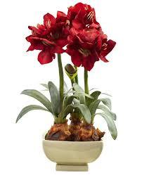 silk flower arrangements amaryllis silk flower arrangement with vase artificial
