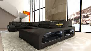 couch u form xxl matched set couch interior armchairs arezzo black designer