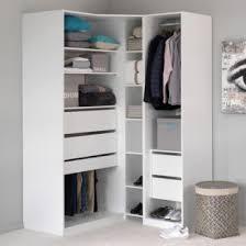 placard d angle chambre dressing alinéa achat armoire de rangement méo en angle blanc