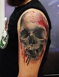 skull tattoo by grimmy3d on deviantart tattoo artist from russia