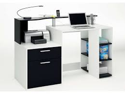 photos de bureau bureau oracle coloris blanc noir vente de bureau conforama