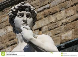 detail of famous statue by michelangelo david fr royalty free