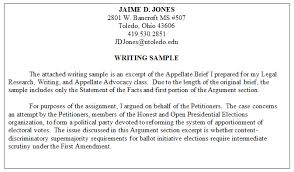 Resume Writing Example by Legal Writing Samples