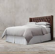Tufted Leather Headboard Shelter Tufted Leather Headboard