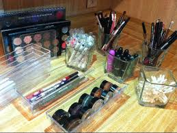 clear makeup storage ideas from dollar tree