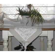 shabby chic table runner shabby chic table runner in beige and white cotton with lace made in