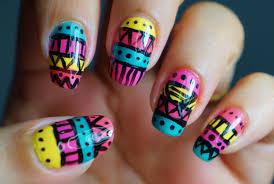 unha decorada tribal nail art tutorial youtube