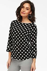 black polka dot blouse black polka dot blouse wallis