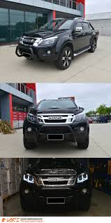 isuzu dmax 2007 black led drl projector head lights isuzu d max 12 16 ute ls m ls