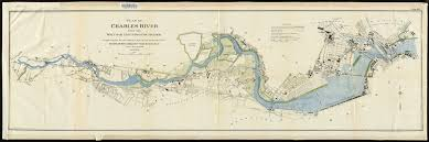 Map Of Boston Harbor by Plan Of Charles River From The Waltham Line To Boston Harbor