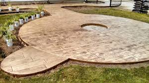 Decorative Concrete Patio Contractor Wood Textured Stamped Concrete Patio Plymouth In Gallery