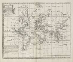 Accurate Map Of The World A New U0026 Accurate Chart Of The World Bowen 1747