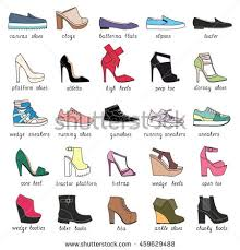 womens boots types set 25 different types womens shoes stock vector 459629488