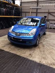 nissan note 2007 nissan note blue 2007 1 6 petrol breaking for spares x1 wheel nut
