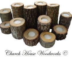 Wedding Candle Centerpieces 12 Tree Branch Candle Holders Rustic Wedding Candle Holders