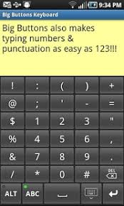 big buttons keyboard standard android apps on play - Large Key Keyboards For Android