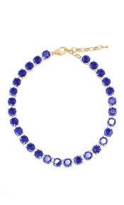 blue crystal statement necklace images Blue crystal statement necklace bridal jewelry bridesmaid jpg
